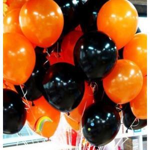 ハロウィン 風船 バルーン セット パーティー オレンジ × ブラック (10個(オレンジ5個+ブラック5個))|idr-store
