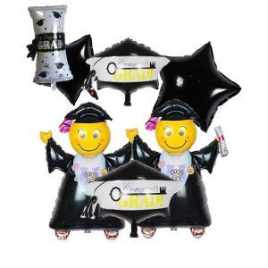 風船 大型 卒業 卒園祝い・卒業祝いコングラッツ クラスターバルーンバルーンギフト 卒園式 卒業式バルーン 7個|idr-store