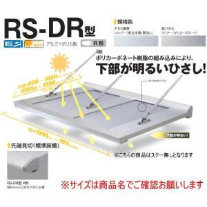 DAIKEN RSバイザー RS-DR型 D800×W1800 アルミ+ポリカ製 (ステー無) R型...