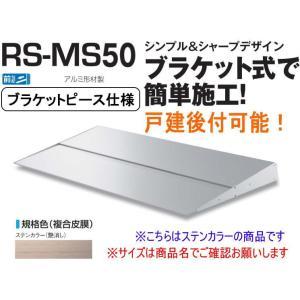 DAIKEN RSバイザー RS-MS50P D500×W800 ステンカラー (ブラケットピース仕...
