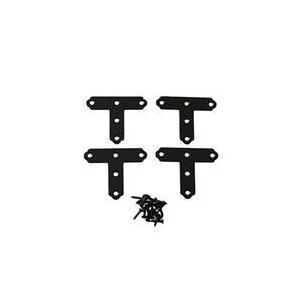 カラーT字金具 40mm QY057 黒 ハイロジック