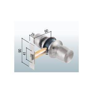 トステム 鍵無し 平型(上下端曲げ) PBF41 アルミサッシ取替錠 R-30 6830-2334(旧:0840-3091)|iefan