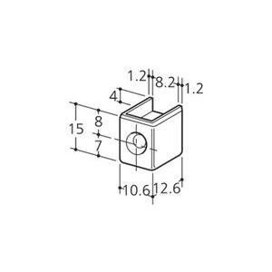 ロイヤル チャンネルサポート シングル用 断面保護キャップ CAS-1