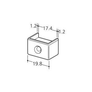 ロイヤル チャンネルサポート ダブル用 断面保護キャップ CAW-5