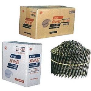 斜めロール釘 スムース 輸入品 2.1-38mm 400本×10巻×4箱入 竹の子型