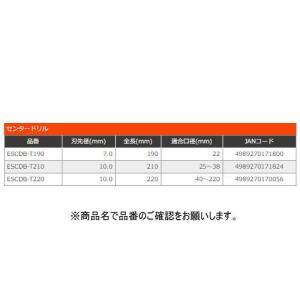 ユニカ ESコアドリル 振動用超硬センタードリル ESCDB-T190