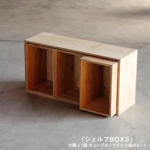 キューブボックスSサイズが二つ+大箱Lサイズが一つの3点セット。 Lサイズの大きさは、Sサイズちょう...