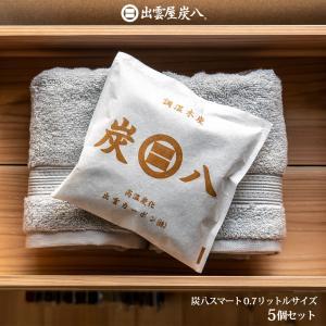除湿剤 湿気 消臭 除湿 炭八 繰り返し 0.7L  5個セット|ienolabo
