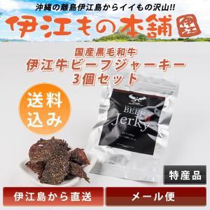 メール便(同梱不可) 国産黒毛和牛 伊江島の和牛ビーフジャーキー 3個セット|ierumsanta