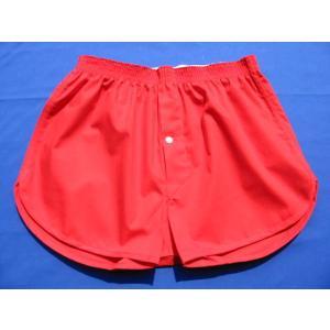 赤 トランクス メンズ 下着 ジョギングトランクス 日本製 送料無料 (3L 4L) 綿100% 赤パンツ 還暦祝い 誕生日 申|if-store