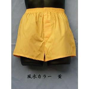 トランクス メンズ 下着 Leトランクス 日本製 送料無料 黄色 (3L 4L) 綿100% 前開き if-store