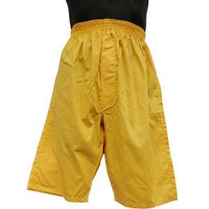 ロングトランクス メンズ 下着 日本製 送料無料 すててこ 黄色 (M L) 綿100% 前開き|if-store