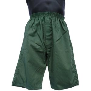 ロングトランクス メンズ 下着 日本製 送料無料 すててこ 緑色 (M L) 綿100% 前開き|if-store