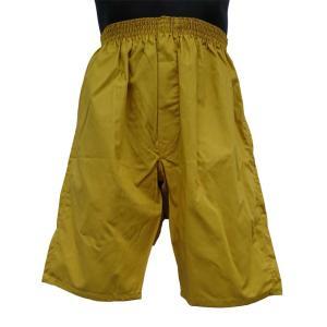 ロングトランクス メンズ 下着 日本製 送料無料 すててこ 金色 (M L) 綿100% 前開き|if-store