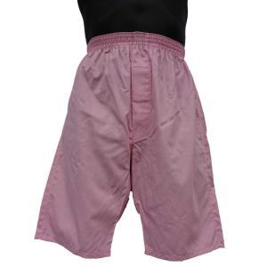 ロングトランクス メンズ 下着 日本製 送料無料 すててこ ピンク (LL 3L) 綿100% 前開き|if-store