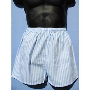 縞柄 パンツ 日本製 メンズ 下着 トランクス 前閉じ 細ゴム巻き込み縫製 昔ながらのパンツ 白下着 父の日 ギフト 誕生日 プレゼント if-store