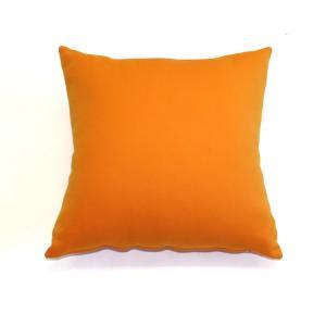 背当てクッション 48cm角型 スムース生地使用 オレンジ|ifabric