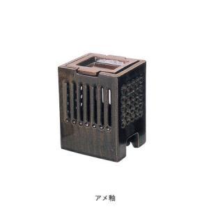 長谷園 茶香炉 角型 アメ釉|iga-ichi