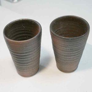 信楽焼 コゲ フリーカップ 2客|iga-ichi