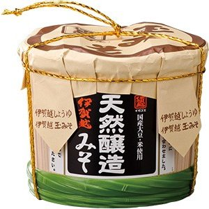 お味噌 伊賀越  天然醸造みそ(化粧樽入) 2.5kg|iga-ichi