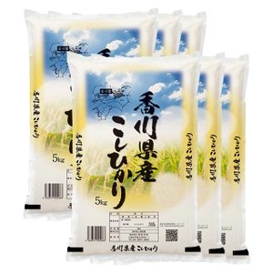 29年産 香川県 讃岐米 コシヒカリ 30kg(5kg×6袋...