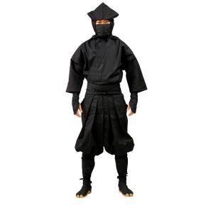 伊賀袴式忍者衣装7点セット(イカ頭巾タイプ)LLサイズ|iganinja-isyo