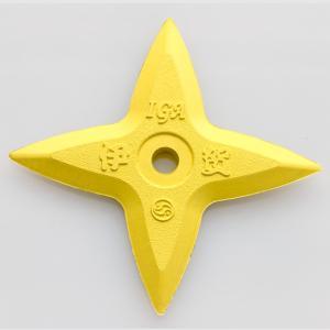 ゴム製カラー十字手裏剣(黄)|iganinja-isyo
