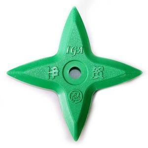 ゴム製カラー十字手裏剣(緑)|iganinja-isyo