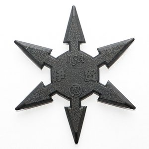 ゴム製カラー六方手裏剣(黒)|iganinja-isyo