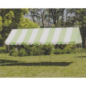 イベントテント 1・5間×2間 天幕+フレーム 天幕:ストライプ・上質生地 支柱1・8mタイプ|igarashihonten