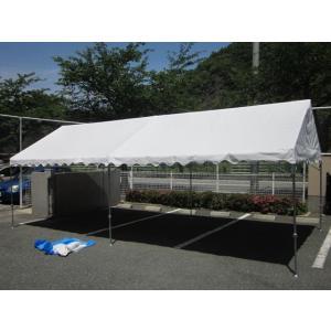 イベントテント 2間×4間 天幕+フレーム 天幕:白・普及生地 支柱1・8mタイプ|igarashihonten