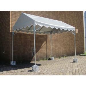 イベントテント 1間×1・5間 天幕+フレーム 天幕:白・普及生地 支柱1・8mタイプ|igarashihonten