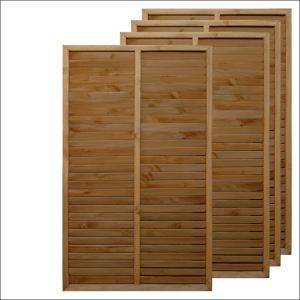 ルーバーラティスフェンス 150×90cmブラウン4枚組|igarden