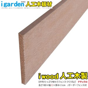 アイウッド人工木材 ボーダーフェンス用板材180幅12cm ウッドデッキ幕板 ナチュラル  ボーダーフェンス ラティス 目隠しフェンス|igarden
