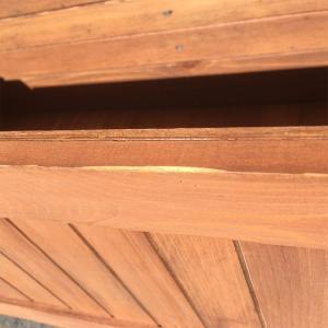 [4月中旬入荷]【訳あり】【在庫処分】【送料無料】天然木製プランター付ラティス 防腐防カビ処理済 ブラウン 組立式|igarden|04