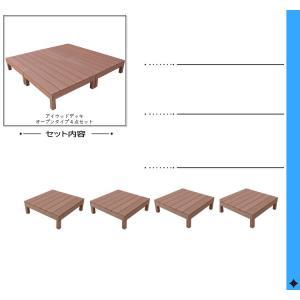 ウッドデッキ 4点セット 1.0坪ナチュラル アイウッド人工木製 縁台 フェンス 目隠しフェンス バルコニー|igarden|02
