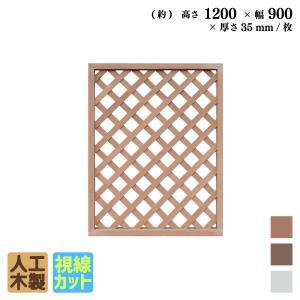 人工木ラティスフェンス 120×90cm格子ナチュラルアイウッド人工木製 フェンス ラティス 目隠しフェンス バルコニー|igarden