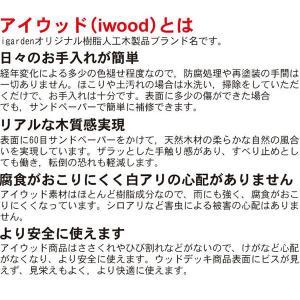 ウッドデッキ PLUS60系2点 90ステップ1点セット ナチュラル アイウッド人工木製 縁台 フェンス 目隠しフェンス バルコニー|igarden|04