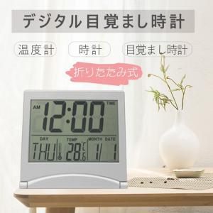 置き時計 簡単操作 高性能 カラー液晶 カレンダー クロック 温度 目覚まし時計|igenso