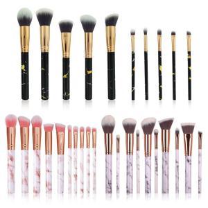 10本セット 化粧筆 化粧ブラシセット チークブラシ 大理石柄の高品質デザイン 敏感肌適用 プレゼン igenso
