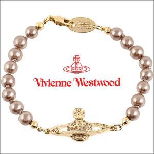 ヴィヴィアンウエストウッド Vivienne Westwood ブレスレット ヴィヴィアン ミニバスレリーフパールブレスレット ゴールド×ブラウンゴールドパール iget