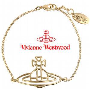 ヴィヴィアンウエストウッド Vivienne Westwood ブレスレット ヴィヴィアン シンラインフラットオーブブレスレット ゴールド iget