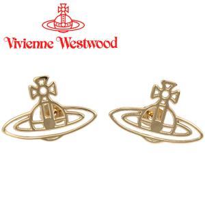 ヴィヴィアンウエストウッド Vivienne Westwood ピアス ヴィヴィアン シンラインフラットオーブピアス ゴールド