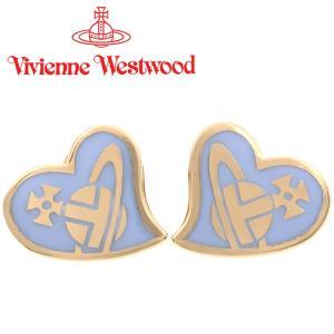 ヴィヴィアンウエストウッド Vivienne Westwood ピアス ヴィヴィアン アンフィスタッドピアス ゴールド×パウダーブルー iget