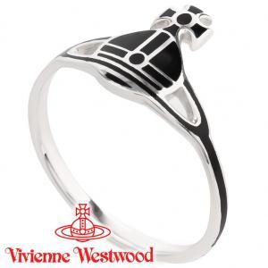 ヴィヴィアンウエストウッド Vivienne Westwood 指輪 リング ケイトリング ブラック×シルバー iget