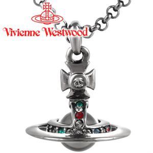 ヴィヴィアンウエストウッド Vivienne Westwood ネックレス ヴィヴィアン プチオーブペンダント ガンメタル iget