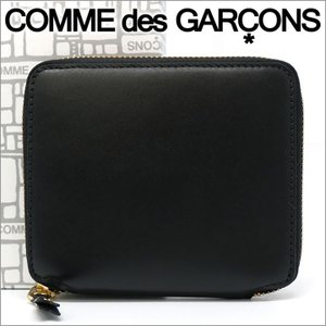 コムデギャルソン 二つ折り財布 COMME des GARCONS コンパクト財布 レディース メンズ ブラック SA2100 ARECALF BLACK
