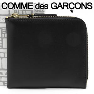 コムデギャルソン ミニ財布 コンパクト コインケース COMME des GARCONS レディース メンズ ブラック SA3100 ARECALF BLACK
