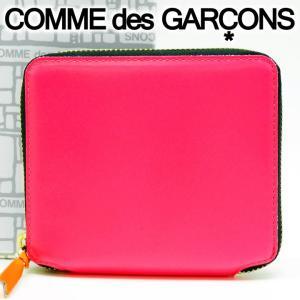 コムデギャルソン 二つ折り財布 COMME des GARCONS コンパクト財布 レディース ピンク SA2100SF PINK