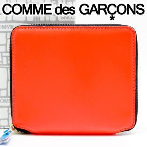 コムデギャルソン 二つ折り財布 COMME des GARCONS コンパクト財布 レディース オレンジ SA2100SF ORANGE